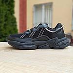 Чоловічі шкіряні кросівки Adidas OZWEEGO (чорні) 10041, фото 2