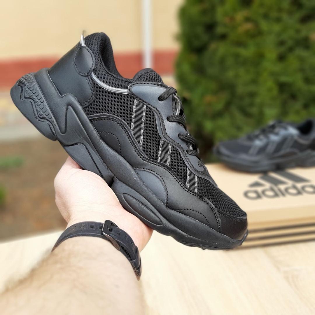 Чоловічі шкіряні кросівки Adidas OZWEEGO (чорні) 10041