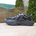 Чоловічі шкіряні кросівки Adidas OZWEEGO (чорні) 10041, фото 3