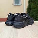 Чоловічі шкіряні кросівки Adidas OZWEEGO (чорні) 10041, фото 5