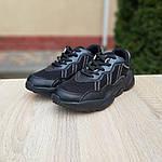 Чоловічі шкіряні кросівки Adidas OZWEEGO (чорні) 10041, фото 7