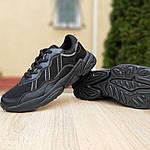 Чоловічі шкіряні кросівки Adidas OZWEEGO (чорні) 10041, фото 6