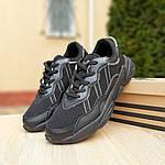 Чоловічі шкіряні кросівки Adidas OZWEEGO (чорні) 10041, фото 8