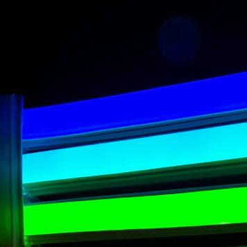 Комплект LED Neon Flex 12v 3м + блок питания 2А синий