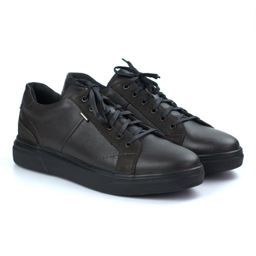 Зимові чоловічі кросівки шкіряні коричневі взуття демісезонне Rosso Avangard Puran Autumn Night Brown