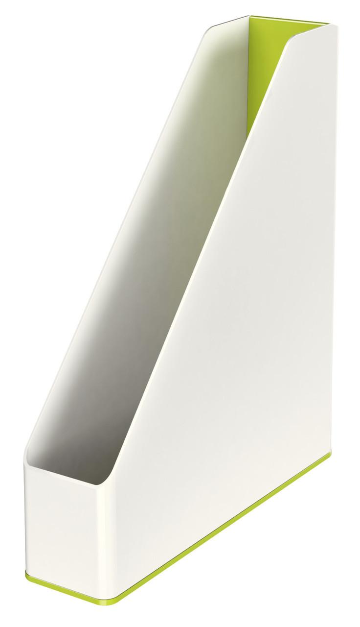 Лоток вертикальный Leitz WOW Duo Colour, зеленый металлик, арт.5362-10-64