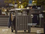Стіл для гриля UNITY 93 Л темно-коричневий (Keter), фото 6