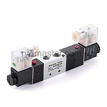 Пневмоклапан 4V230c-06-12V (Cх.5/3), с электромагнитным управлением