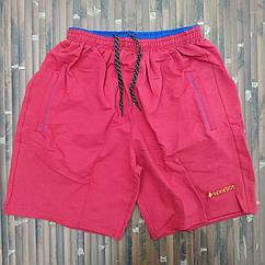 Трикотажные шорты батал х/б 62-70 красные МТ-140136