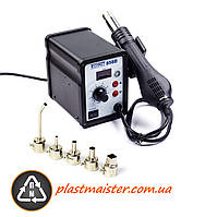 Паяльник для пластика с электронным дисплэем Technet 858D + 4 насадки + супер насадка