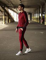 Мужской спортивный костюм Змейка (бордовый), фото 1