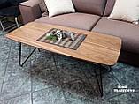 Журнальный стол LYON B (120*50*47) шпон орех Nicolas (Бесплатная доставка), фото 3