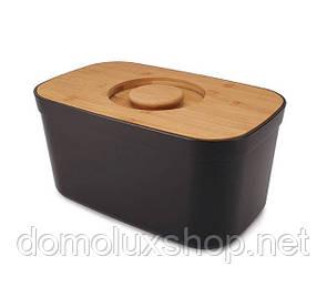 Joseph Joseph Bread Bin Хлебница черная с бамбуковой доской (81103)