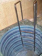 Устройство поручней, перил, лестниц для бассейнов