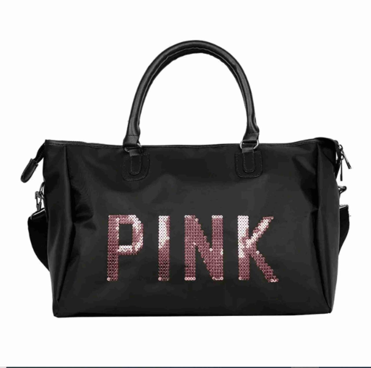 Женская сумка  Стильная женская Сумка женская PINK ЧЕРНАЯ спортивные сумки