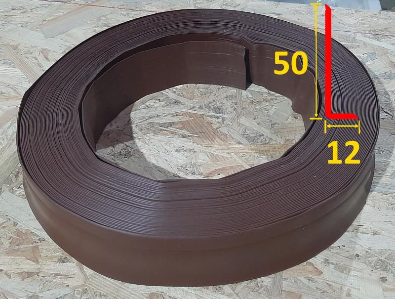 Плинтус для пола гибкий, для колонн 50 мм х 12 мм Светло-коричневый