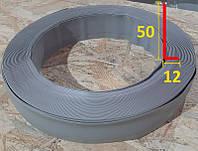 Гибкий эластичный напольный плинтус 50 мм х 12 мм Тёмно-серый, фото 1