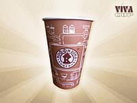 Изготовление  бумажных  стаканчиков с нанесением логотипа 360 мл.