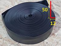 Мягкий гибкий виниловый плинтус 50 мм х 12 мм Чёрный, фото 1
