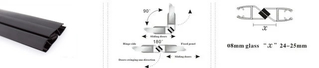 Магнитный стык для двери душевой кабины