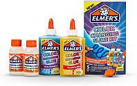 Клей для слаймов Elmer's Элмерс меняет цвет в ультрафиолете Color Changing Slime Kit UV Light