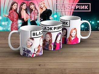"""Чашка K-Pop Black Pink """"Участницы на белом фоне"""""""
