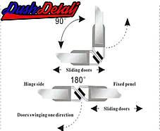Магнитный стык для двери душевой кабины (МС08Ч), фото 2