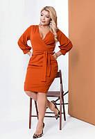 Элегантное платье с лифом на запах 58308 (42–60р) в расцветках
