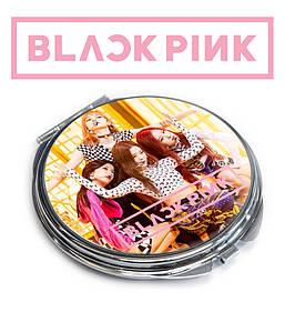 """Карманное зеркальце  K-Pop Black Pink """"Участницы поют"""""""