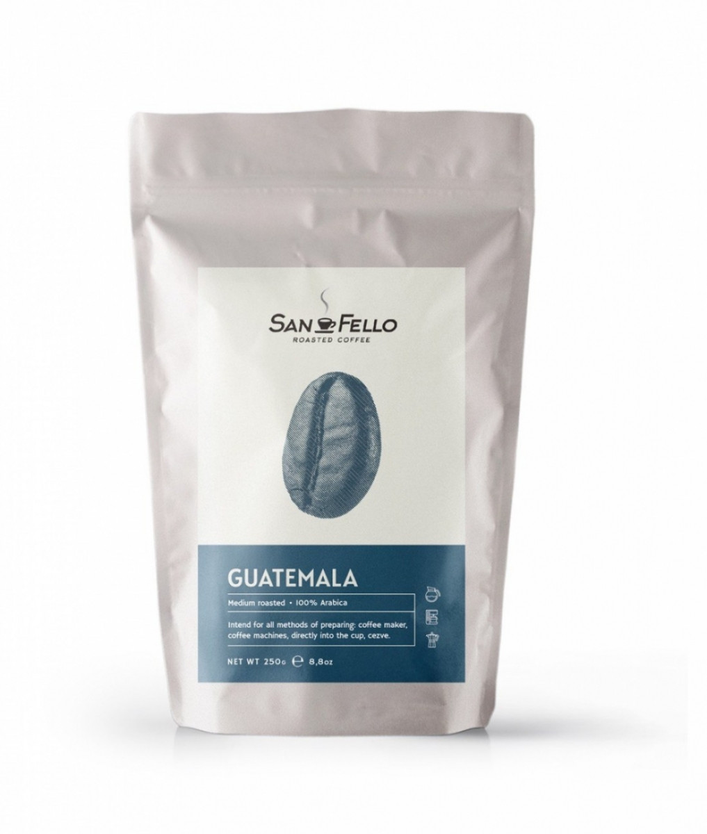Кофе в зернах свежая обжарка Guatemala 1 кг