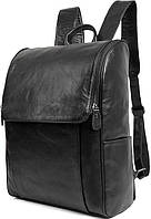 Рюкзак Vintage 14523 кожаный Черный, Черный