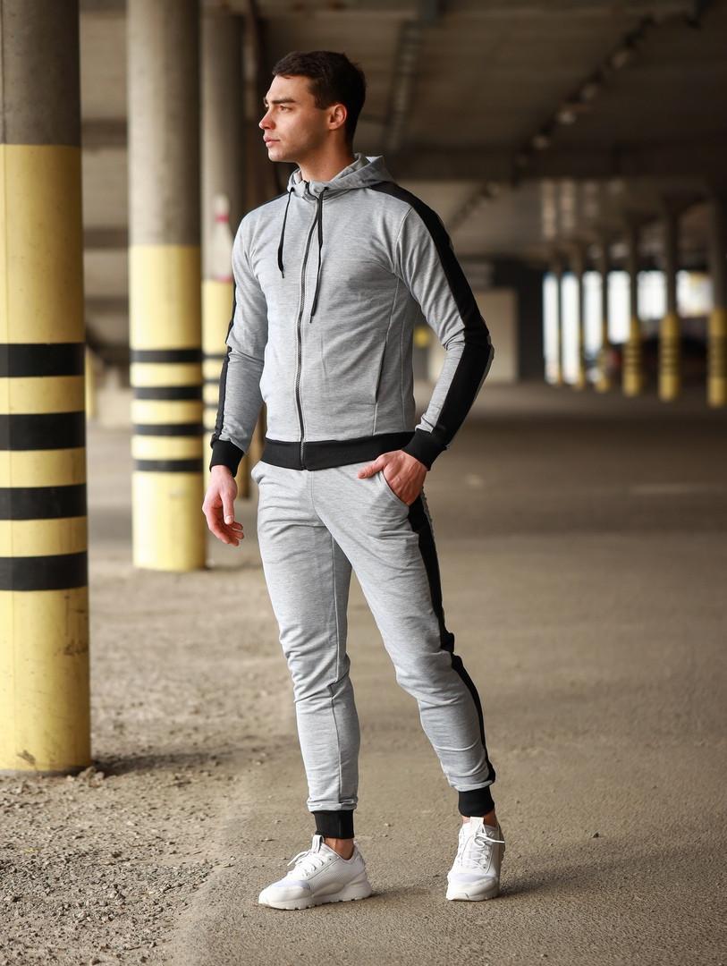 Мужской спортивный костюм Змейка (серый)