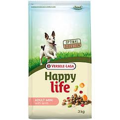Cухой корм для взрослых собак Happy Life Мини со вкусом ягненка 3 кг