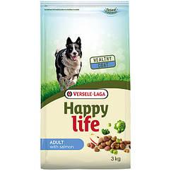 Сухой корм Happy Life Adult with Salmon для взрослых собак всех пород с лососем 15 кг
