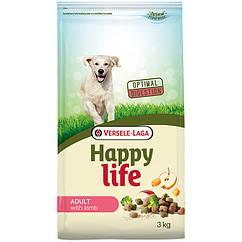 Сухой корм Happy Life Adult with Lamb для средних и крупных собак с ягненком 3 кг