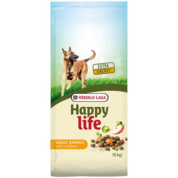 Cухой корм Happy Life Adult Energy with Chicken для взрослых энергичных собак с курицей 15 кг