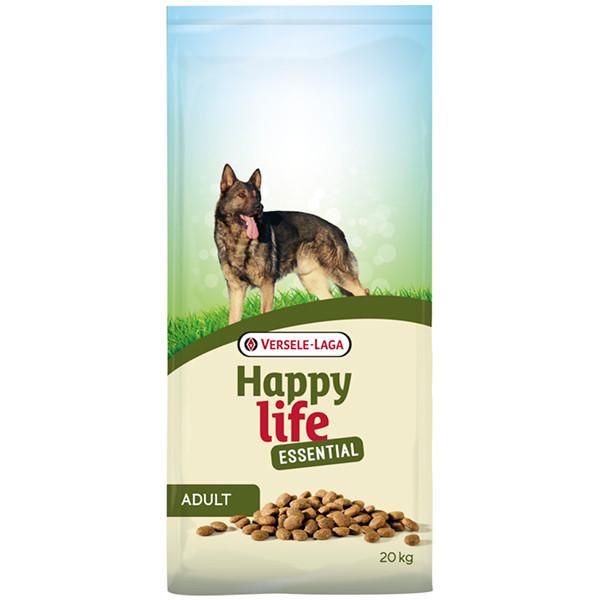 Сухой корм Happy Life Essential для взрослых собак всех пород с курицей 20 кг