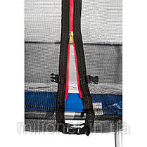 Батут Atleto 465 см с двойными ногами с сеткой синий (3 места) , фото 2
