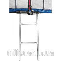 Батут Atleto 465 см с двойными ногами с сеткой синий (3 места) , фото 3