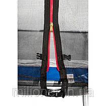Батут Atleto 435 см с двойными ногами с сеткой синий (3 места), фото 3