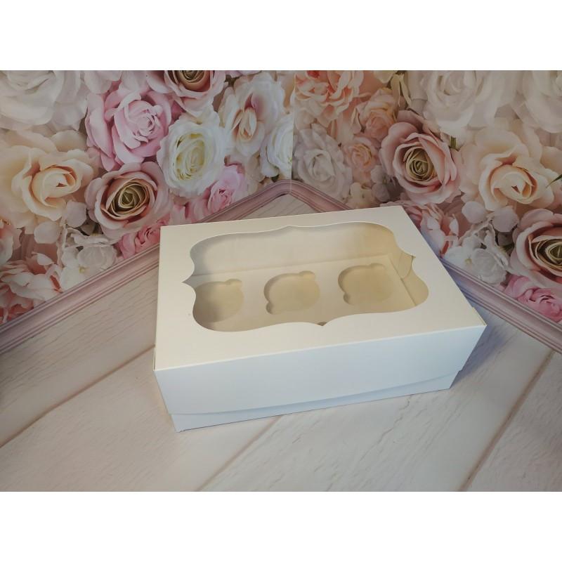 Коробка для кексів ( на 6 шт.) ,25*17*8см біла