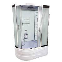 Гидробокс Atlantis 130х85 правый, глубокий поддон, матовое стекло, AKL-1315 XL R
