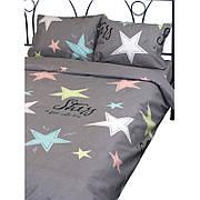 Комплект постельного белья Руно полуторный бязь подростковий арт.1.114Г_10-0510 grey