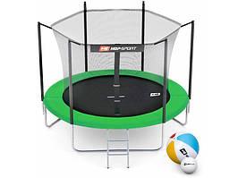Батут Hop-Sport 10ft (305cm) зеленый с внутренней сеткой