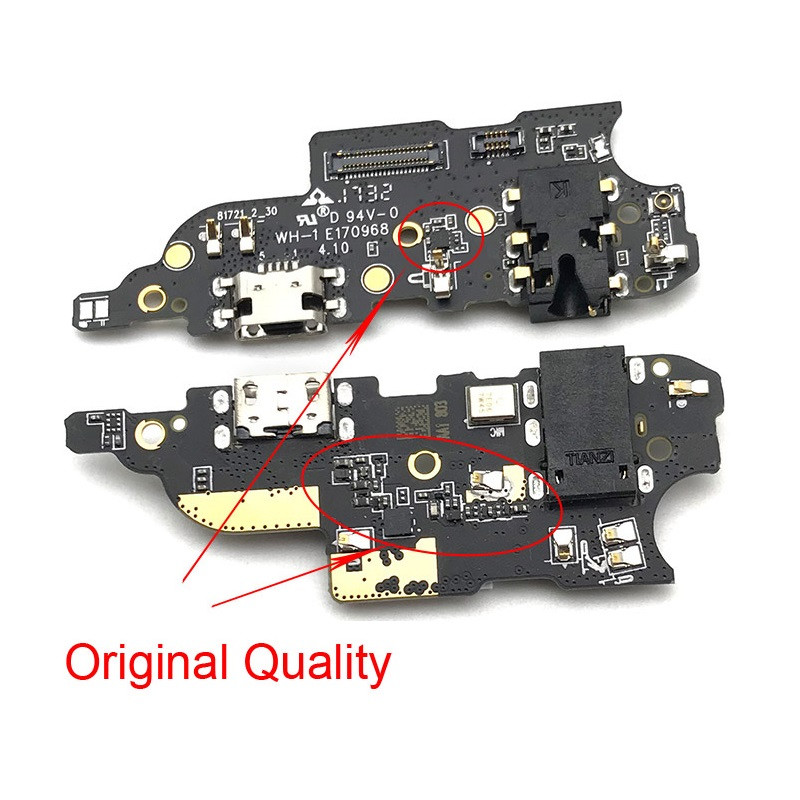 Плата зарядки для Meizu M6 Note с разъемом зарядки и компонентами (Original)