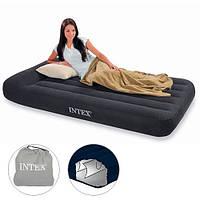 """Надувной матрас-кровать односпальная """"Pillow Rest"""" (99х191х23см) Intex 66767"""