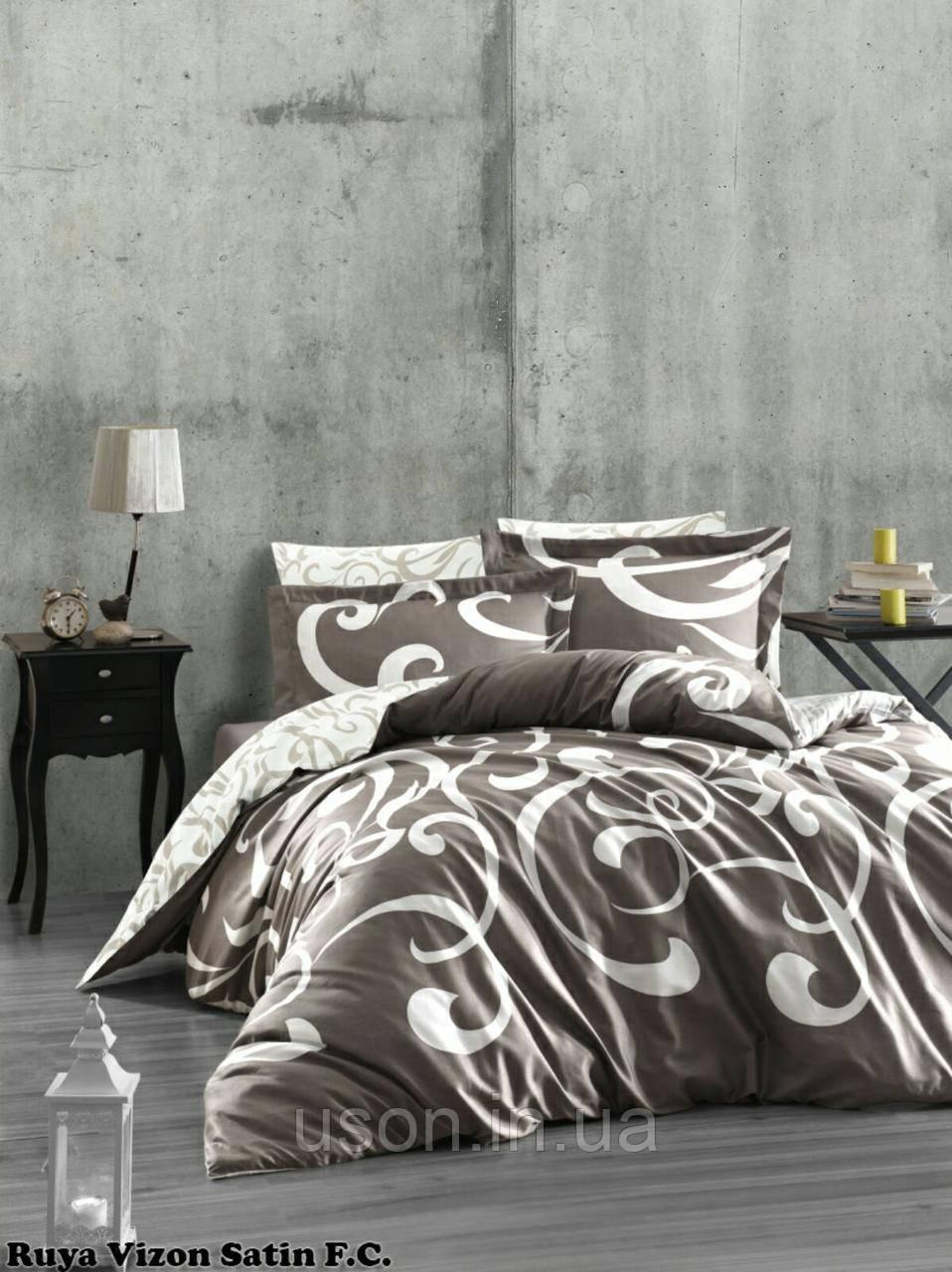 Комплект постельного белья Тм First Choice сатин Ruya Vizon