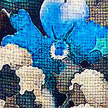 Палантин из вискозы 10724-12, павлопосадский палантин из вискозы, размер 80х200, фото 6
