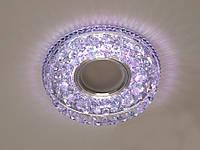 Встраиваемый светильник с светодиодной подсветкой 8115WH+PK, фото 1