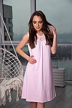 Ночная рубашка трикотажная розовая 52 р